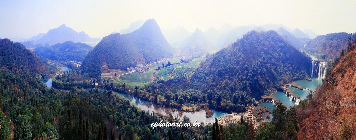 중국 라평 구룡폭포